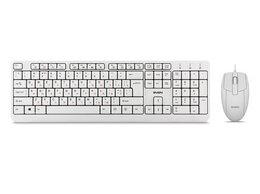 Комплекты клавиатур и мышей - Комплект клавиатура мышь SVEN KB-S330C белый USB, 0