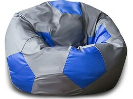 Кресла-мешки - Кресло-мешок Мяч Серо-Синий (Оксфорд), 0