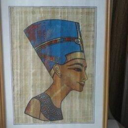 """Картины, постеры, гобелены, панно - Египетский пергамент """"Нифертити"""" , 0"""