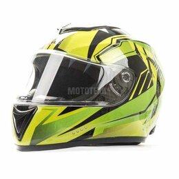 Мотоэкипировка - Шлем мото HIZER (Хайзер) 522 (S) #3 black/yelow green, 0