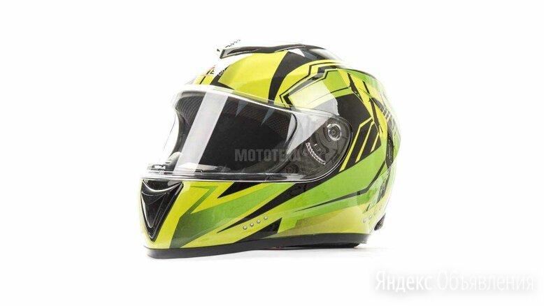 Шлем мото HIZER (Хайзер) 522 (S) #3 black/yelow green по цене 5036₽ - Мотоэкипировка, фото 0
