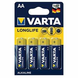 Батарейки - Батарейка VARTA LONGLIFE lr6 [тип: AA; к-т: 4шт/уп.], 0