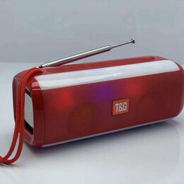 Акустические системы - Колонка Bluetooth TG-144 красная, 0