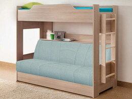 Кровати - Кровать детская двухъярусная с диван-кроватью, 0