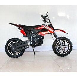 Мототехника и электровелосипеды - Электромотоцикл GreenCamel Питбайк DB400 red, 0