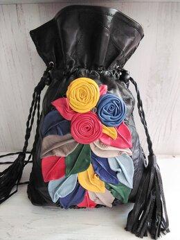 Рюкзаки - Торбочки из кожи  ручной работы размеры изделия…, 0