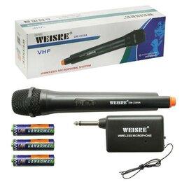 Микрофоны -     Беспроводной микрофон Weisre DM-3308A с приемником, 0