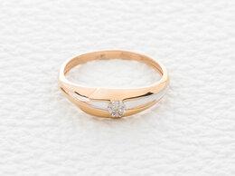 Кольца и перстни - Кольцо с 7 бриллиантами из красного золота, 0