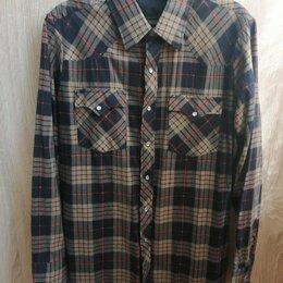 Рубашки - Новая мужская тёплая рубашка. Размер: 46-48, 0