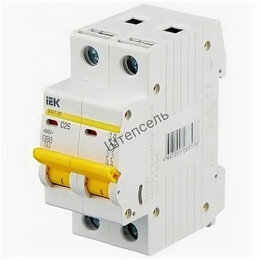 Электрические щиты и комплектующие - Автомат пакетный IEK ва-4729 2Р 6А (C) (Новый), 0