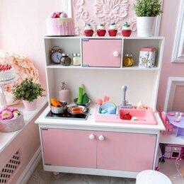 Игрушечная мебель и бытовая техника - Детская деревянная кухня Игровая кухня с водой , 0