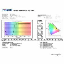 Световое и сценическое оборудование - ROSCO Supergel №010 Medium Yellow - Светофильтр…, 0