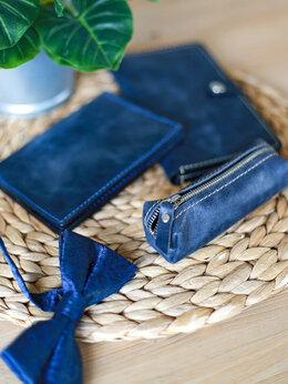 Кошельки - Набор кожаных аксессуаров обложка кошелёк ключница, 0
