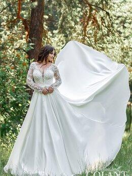 Платья - Атласное свадебное платье с рукавами TM GOLANT, 0