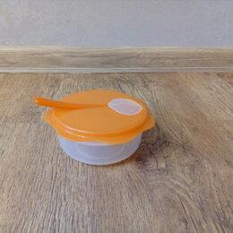 Посуда - Детская дорожная тарелка с ложкой Tescoma (новая), 0
