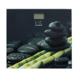 Напольные весы - IR-7257 Весы напольные черные камни, 0