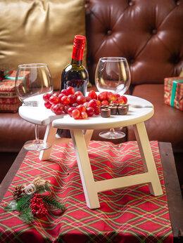 Столы и столики - Винный столик Винница на 4 бокала, серый цвет, 0