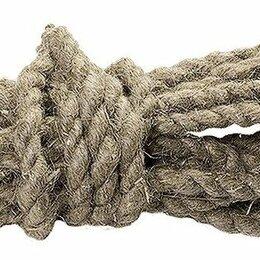 Веревки и шнуры - Веревка льнопеньковая 10мм 10 м, 0