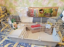 Лежаки, домики, спальные места - Клетка для морских свинок и кроликов, 0
