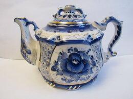 Заварочные чайники - Чайник Гжель ( в золоте ) авторская роспись.0,7…, 0
