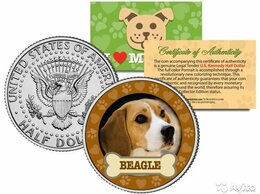 Монеты - 50 центов США Бигль собака, 0