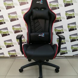Компьютерные кресла - Игровое Кресло Aerocool AC110 AIR All black/red, 0
