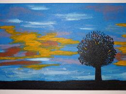 """Картины, постеры, гобелены, панно - Картина """"Вечер"""" авторская холст акрил 41х27 см…, 0"""