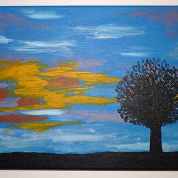 """Картины, постеры, гобелены, панно - Картина """"Вечер"""" авторская холст акрил 41х27 см Г.А. Рычагова, 0"""