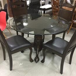 Столы и столики - Стол стекло, массив АРU D 122 cм, Малайзия, 0