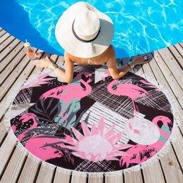 Полотенца - Полотенце пляжное , Фламинго, 0