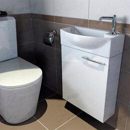 Тумбы - Мини тумба с раковиной в туалет Emmy Мия, 0