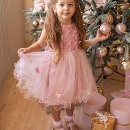 Платья и сарафаны - Платье нарядное пудрово-розовое 92см. 98см, 0