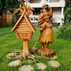 Баба яга танцующая | Скульптура из дерева по цене не указана - Садовые фигуры и цветочницы, фото 2