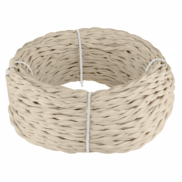 Кабели и разъемы - Ретро кабель витой 3х1,5 (песочный) Werkel 50 м…, 0