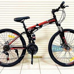 """Велосипеды - Велосипед Складной 26"""" Cayman Turaid 21ск.  чёрный с красным, 0"""