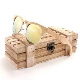 Очки и аксессуары - Солнцезащитные очки деревянные, арт. BG016 Yellow, 0