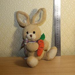 """Мягкие игрушки - Мягкая игрушка """"Бежевый зайка с морковкой"""", 0"""