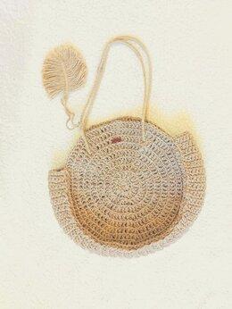 Сумки - Пляжная сумка из джута, 0