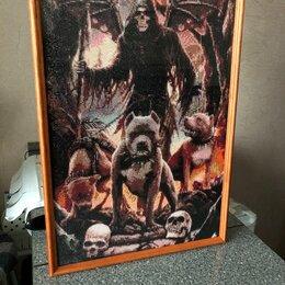 Картины, постеры, гобелены, панно - Картина 40-60. Дьявол с тремя собаками, 0