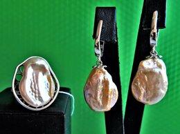 Комплекты - Комплект серебро с жемчугом барокко натуральным,…, 0