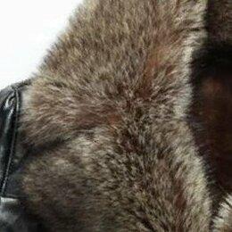 Куртки - Зимняя кожаная куртка 52-54 р., 0