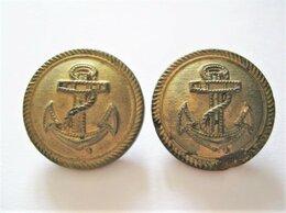 Военные вещи - Две пуговицы Kriegsmarine (стекло), 0
