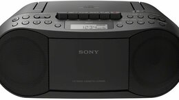 Музыкальные центры,  магнитофоны, магнитолы - Магнитола Sony CFD-S70 Черная, 0