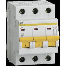 Защитная автоматика - Автоматический выключатель 3Р C 40А IEK ва47-29, 0