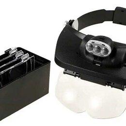 Аксессуары и запчасти - Очки радиолюбителя + 3 LED подсветка + сменные линзы MG81001-E, 0