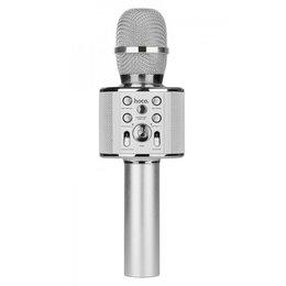 Микрофоны - Микрофон-караоке HOCO BK3 (Серебро), 0