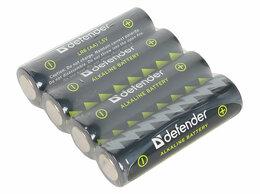 Батарейки - Батарейка алкалиновая Defender LR6-4F AA в пленке , 0