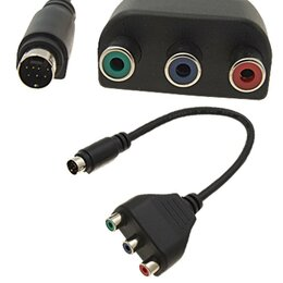 Компьютерные кабели, разъемы, переходники - Переходник S-Video 7-pin RCA тюльпан Новый, 0