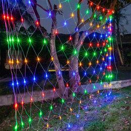 Новогодний декор и аксессуары - Гирлянда светодиодная типа Сетка, 0