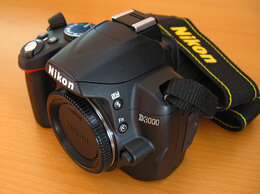 Фотоаппараты - Зеркальный фотоаппарат Nikon D3000, 0